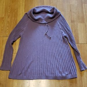 Soft Surroundings lilac funnel neck sweater